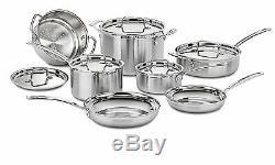 Cuisinart MultiClad Pro 12-Piece Kitchen Cookware Set Stainless Steel Pots Pans