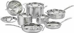 Cuisinart Multi Clad Pro Stainless 12 Pc Cookware Set Pots Pans Lids New In Box
