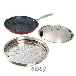 Curtis Stone Dura-Pan 11-piece Cookware Set-Red