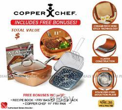 Danoz Copper Chef 6 Piece Set 11 + Warranty Authentic Bonus Pan included
