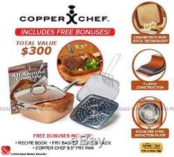 Danoz Copper Chef 6 Piece Set 9.5 + Warranty Authentic Bonus Pan included