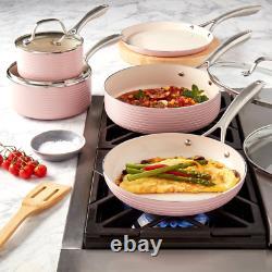 Denmark 10PC Hamilton Aluminum Cookware Set Blush non-stick aluminum pots, pans