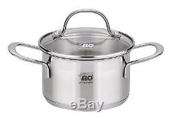 ELO Germany 14 PC 18/10 Stainless Steel Kitchen Induction Cookware Pot & Pan Set