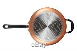 EPPMO 12 Piece Copper Nonstick Cookware Set, Aluminum Pots and Pans, Dishwasher