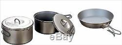 EVERNEW Titanium Ceramic Non-stick pan 6.5 ECA441 & Cooker 0.9/ 1.3L Set ECA412