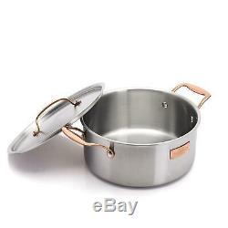 Fleischer and Wolf London Tri-Ply 12-Piece Cookware Set Pots and Pans