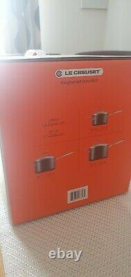 Genuinely Le Creuset Toughened Non-Stick 3 Piece Saucepan Set With Glass Lids