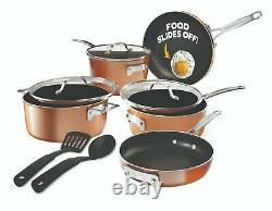Gotham Steel StackMaster 7 Piece Set Non-stick Induction Cookware Pots & Pans