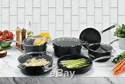 Granite Stone PRO Stackable Nonstick Pots & Pans Set 10 Piece Stackmaster NEW
