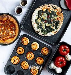 Granite Stone Pot Pan Set Kitchen Cookware Bakeware Nonstick 20 Piece 7081 New