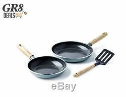 GreenPan MayFlower 2-Piece Nonstick Frying Pan Set 20/24cm + Slotted Turner, 100