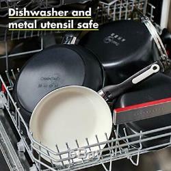 GreenPan Rio Healthy Ceramic Nonstick, Cookware Pots and Pans Set, 16-Piece, Bla