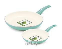 Green Nonstick Cookware Set Pan Life 14 Piece Set Light Weight Pot Lid Ceramic