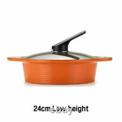 HAPPYCALL Alumite IH Ceramic Pots and Steamer Set 5 Pieces