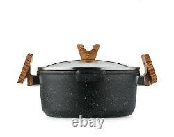 Haufson Asteroid Collection Die-cast Non-Stick Pot & Pan Set Professional Kit