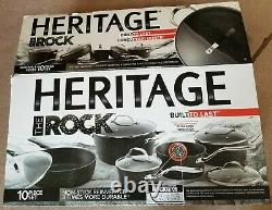 Heritage The Rock Non-Stick Cookware Set, 10-pc