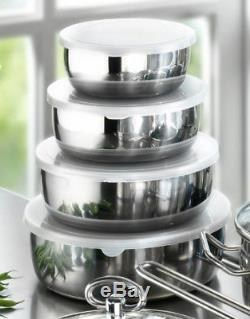 Home Kitchen 20-Piece Stainless Steel Non Stick Cookware Pots And Pans Set New