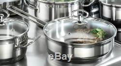 Induction Hob Pans Set Karcher Jasmin 20 Piece Stainless Steel Cookware Set Pots