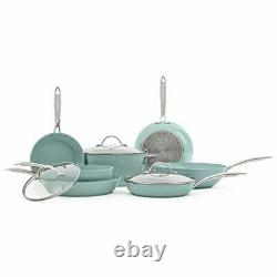 JADE CHEF set of pans and kitchen pots 10 pieces. NON-STICK interior and exte