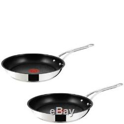 Jamie Oliver by Tefal Stainless Steel Non-Stick 2 Piece Frying Pan Set 24/28cm