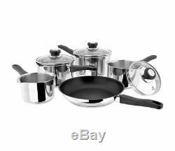 Judge Vista 5 Piece Draining Saucepan Pan Set Non-Stick Induction All Hobs