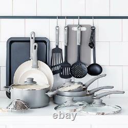 Juego De Cocina Para Casa Bateria Ollas Todo En 1 Con Sartenes Cucharas Ceramica