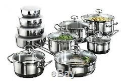 Karcher 121008 Jasmin cookware set 20-piece stainless steel induction hobs