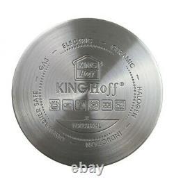Kinghoff KH-1201 10 Piece Marble Cookware Saucepan Pan Set Nonstick 8767