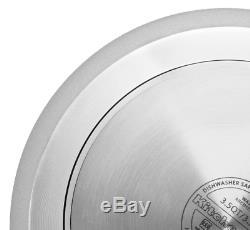 KitchenAid Aluminum Nonstick 10-Piece Red Cookware Set with Lids Pans Skillets