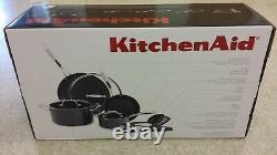 KitchenAid Hard Anodized Nonstick Cookware Pots and Pans Set, 10 Piece