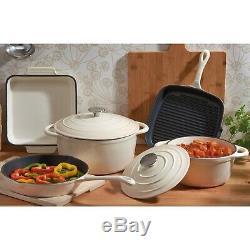 Kitchen Cookware Cast Iron Pots Pans Ovenware Set 5 Piece Oven Proof GRADE B