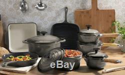 Kitchen Cookware Cast Iron Pots Pans Ovenware Set 7 Piece Oven Proof GRADE C