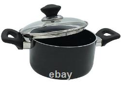 Kitchen King Casserole Set Dish Pan Sauce Pot Non Stick Cooking Pan Saucepan Wok