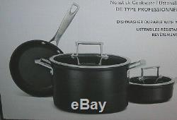 Kitchenaid Nonstick Hard Anodized 5-pc Cookware Pots & Pans Set KCH1S05AKD Black