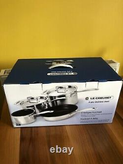 Le Creuset 3 -Ply Stainless Steel Non-Stick 4 Piece Set