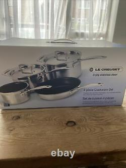 Le Creuset 3 Ply Stainless Steel Non Stick 4 Piece Set