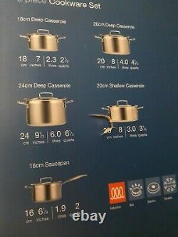 Le Creuset 3 Ply Stainless Steel Non Stick 5 Piece Set. High Quality. BRAND NEW