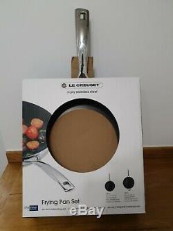 Le Creuset 3-ply Frying Pans Set 24/28 CM