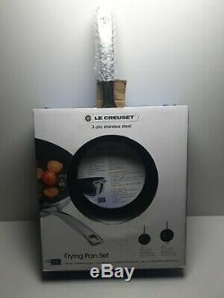 Le Creuset 3-ply Frying Pans Set 24/28 CM. High Quality Kitchen Stuff