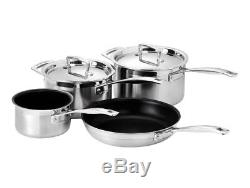 Le Creuset 4 -Ply Stainless Steel Non-Stick 4 Piece Cookware Set
