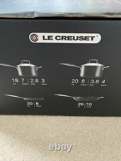Le Creuset 4-pcs Set 18 & 20Cm Saucepans, 20cm Shallow, 26cm Deep Frying Pans