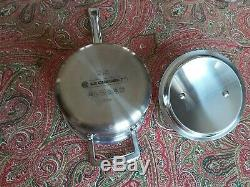 Le Creuset 7 Piece 3 Ply Stainless Steel 4 Saucepans, Milkpan, Frypan & Steamer
