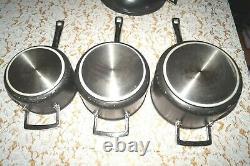 Le Creuset Non Stick 3 SaucePan Set + Non Stick Deep Frying Pan