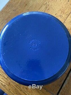 Le Creuset Set Of Three Casserole Dish Saucepan Cast Iron Pots And Pans Blue