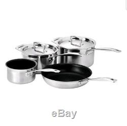 Le Creuset Toughened Non-Stick Stainless Steel 4 Piece Saucepan Cooking Set