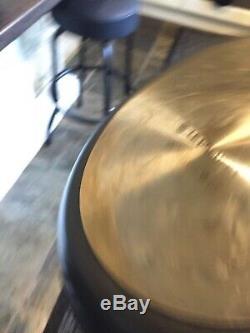 Le Crueset Non Stick Complete Set of Pans & Le Crueset Cast Iron Stand In Black