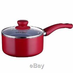 Lovepan Peas Pots and Pans Set, Grey Ceramic Coating Nonstick Aluminum Cookware