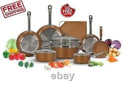 Luxury Copper Cookware Pots and Pans Set + Non-Stick Griddle ORIGINAL (13-Piece)