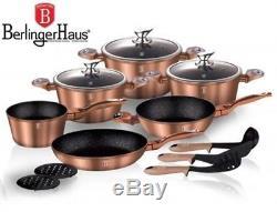Luxury Pots High-quality Cookware Set 15 pcs frypan utensils Cooper