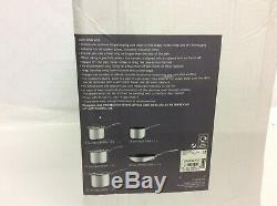 M & S Triply 5PCE Saucepan Set Non Stick Includes Frying Pan RRP £159 NEW